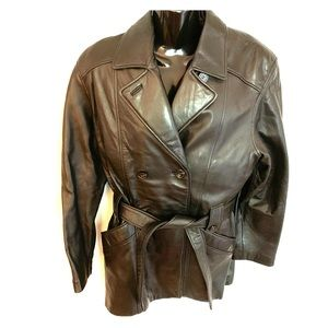 Danier Leather Jacket Black Hip Length Sz XS